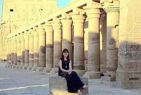 Nola at the Philae Temple