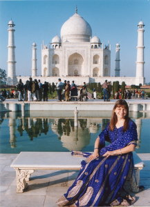 Nola at the Taj Mahal